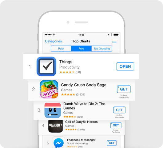 Things #1 in the App Store charts
