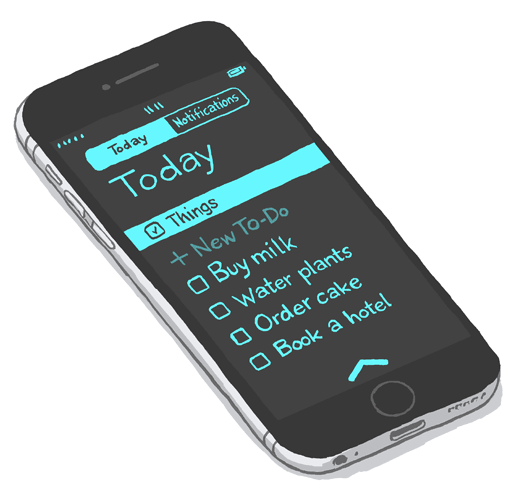 Things Today Widget on iPhone