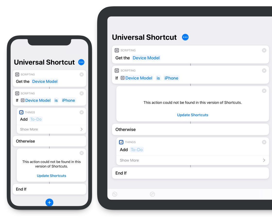 Use Shortcuts app for the same voice command across iPhone and Pad